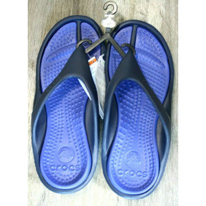 Crocs Womens Athens Blue Thong Sandals Size 9 NWT